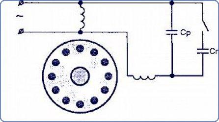 Схема подключение однофазного двигателя