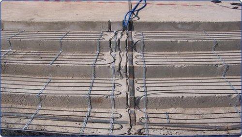 Обогрев бетона проводом ПНСВ