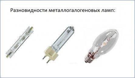 Разновидности металлогалогеновых ламп