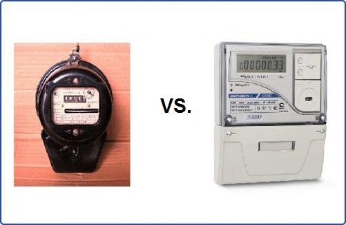 Дисковый электросчетчик против цифрового