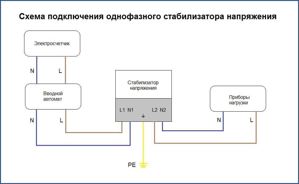 Подключение стабилизатора напряжения схема подключения