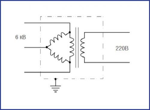 Понижающий трансофрматор 6/0,4