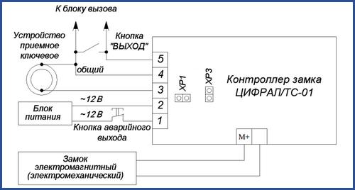 Схема подключения бытового контроллера «Цифрал ТС-01»