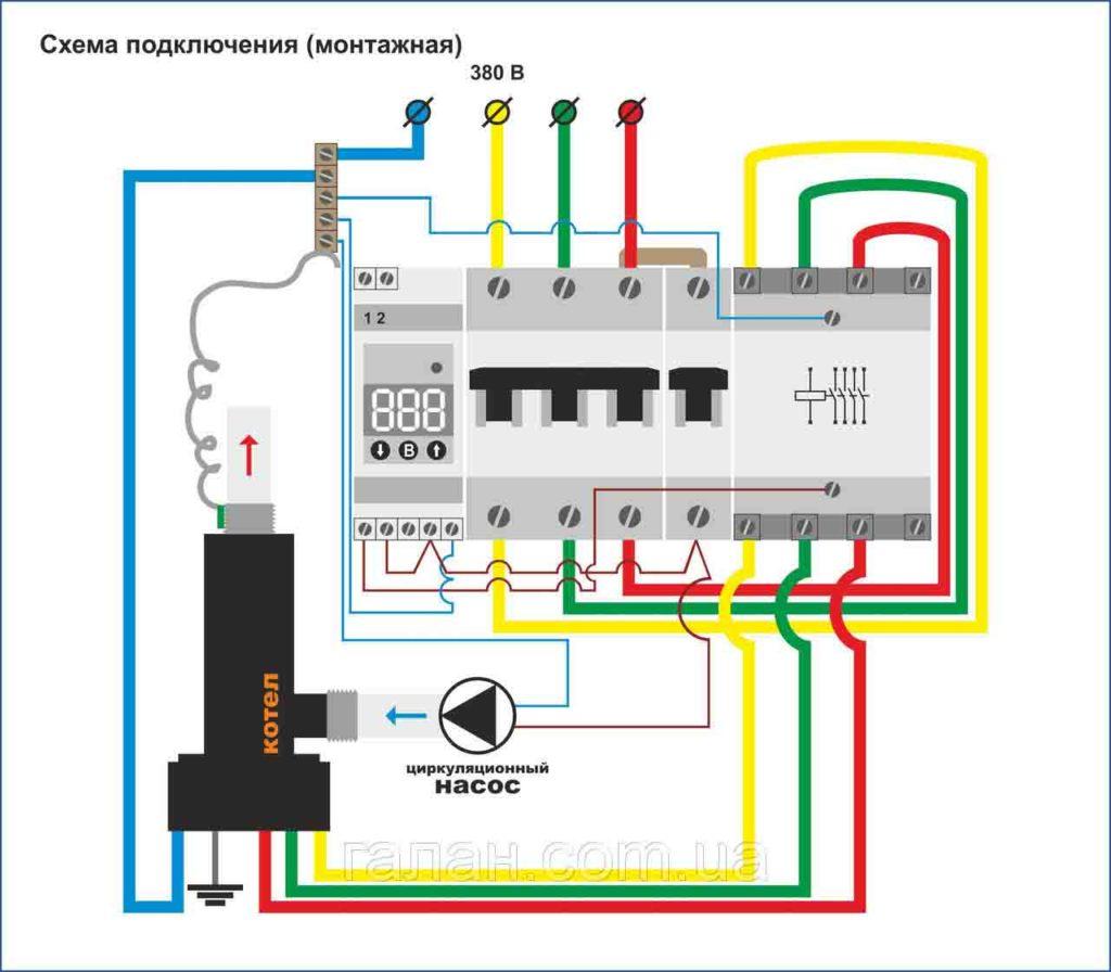 Подключение электродного котла