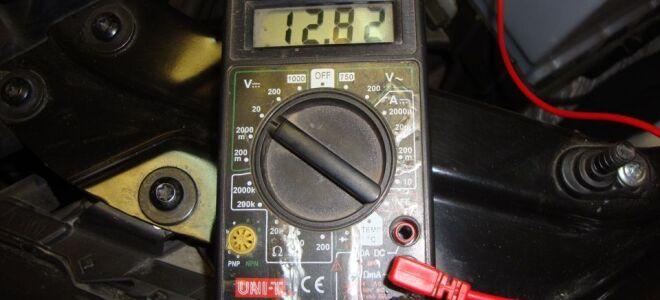 Напряжение автомобильного аккумулятора