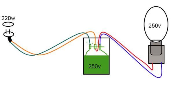 Подключение к сети ламп ДНаТ и ДРЛ