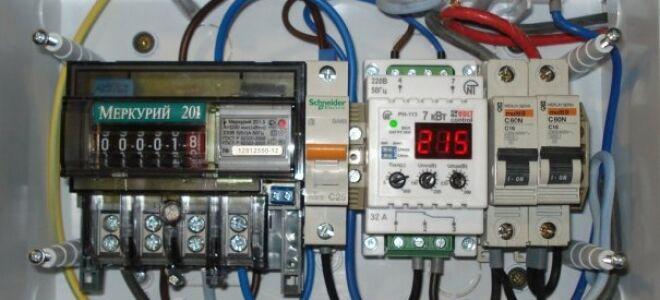 Подключение реле напряжения в сетях 220В и 380В