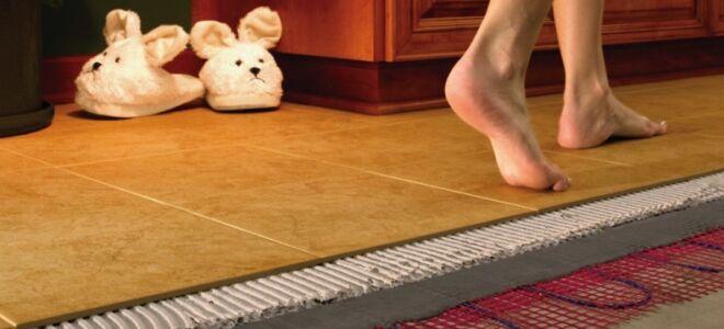 Кабельный теплый пол под плитку