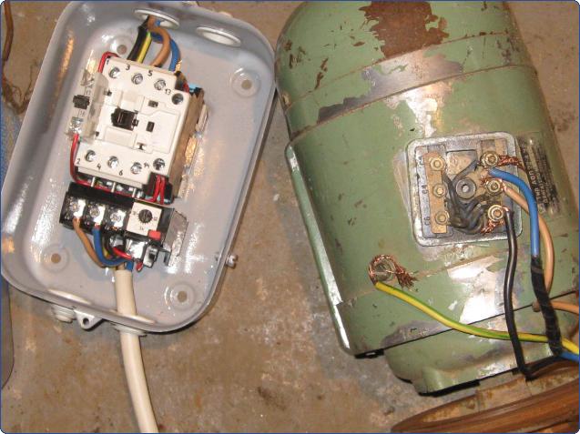 Подключение электродвигателя через пускатель