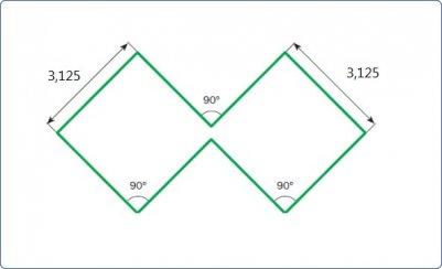Размеры сторон биквадрата