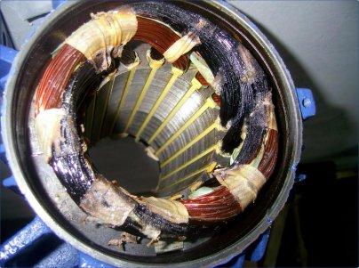 Перегрев и замыкание обмоток двигателя