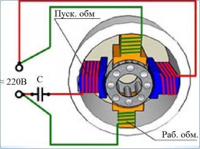 Однофазный электромотор