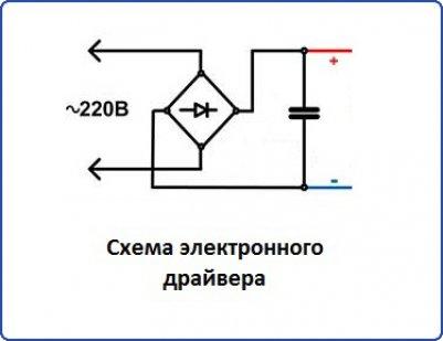 Схема электронного драйвера