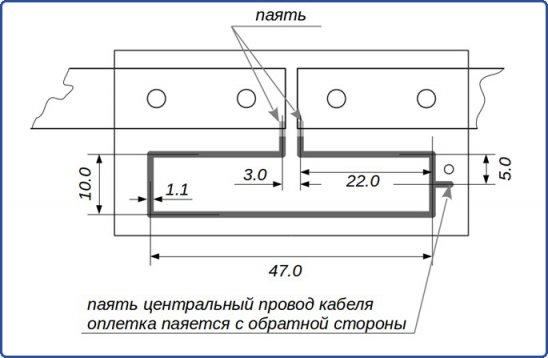 Размеры микрополосковых линий