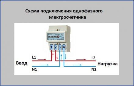 Схема подключения однофазного тока