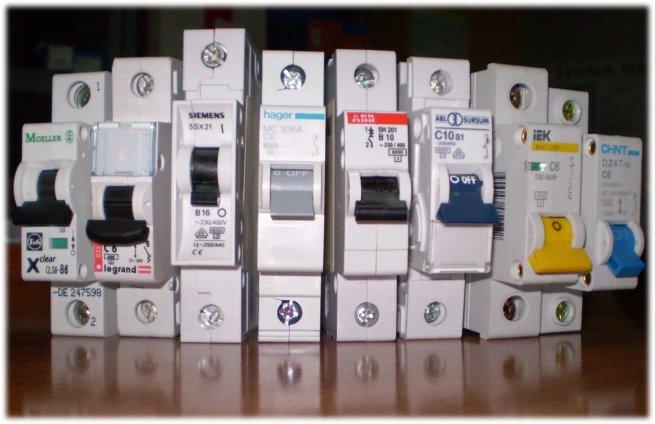 Виды автоматов электрических и их назначение
