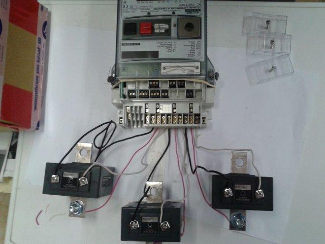 с схема трансформатором тока счетчика