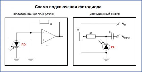 фотодиодная электронная схема для привлечения