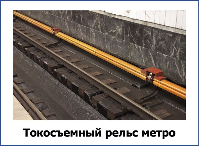 Токосъемный рельс метро